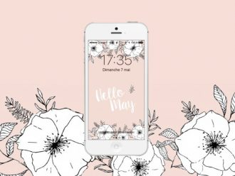 fond-ecran-iphone-rose