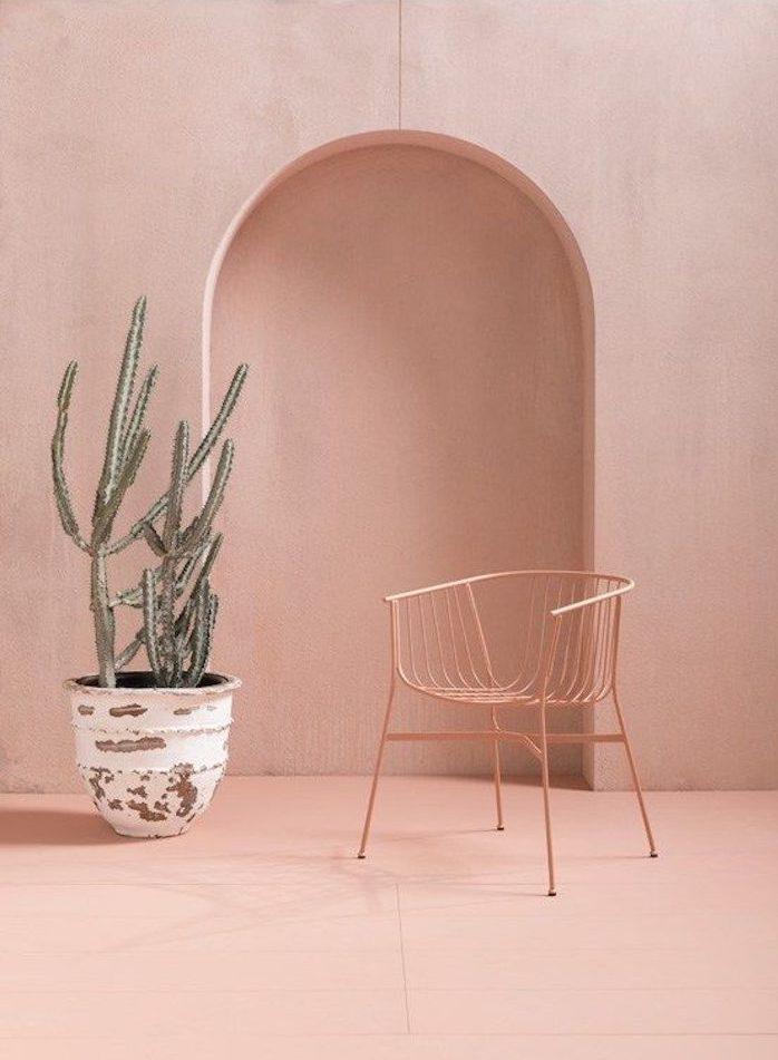 deco rose mur cactus