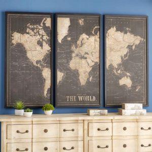 tableaux carte du monde