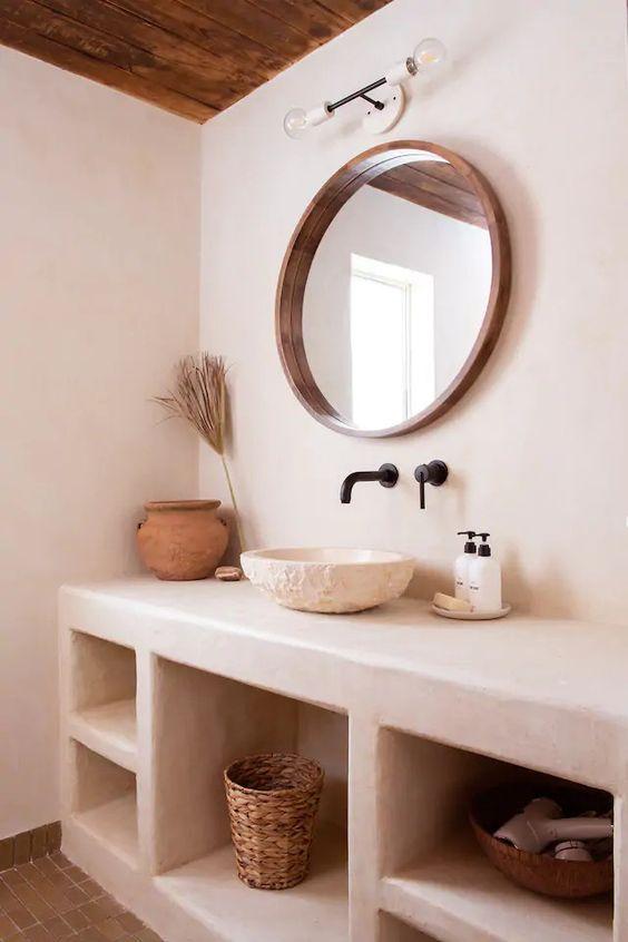 salle de bain déco naturelle